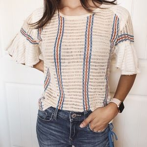 Free People Knitted Blouse S/M